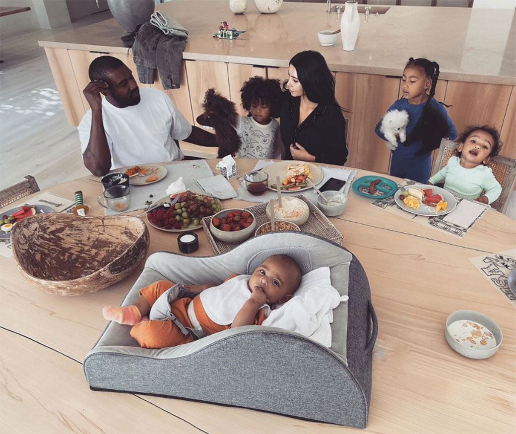 Kim Kardashian, Kanye West, Saint West, North West, Psalm West, Chicago West