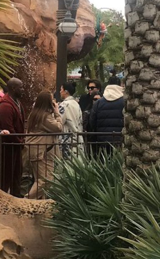 Kylie Jenner, Travis Scott, Corey Gamble, Kris Jenner, Kourtney Kardashian
