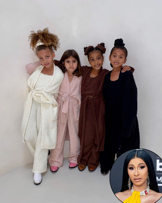 Cardi B, Skims, Kim Kardashian, Penelope Disick, North West