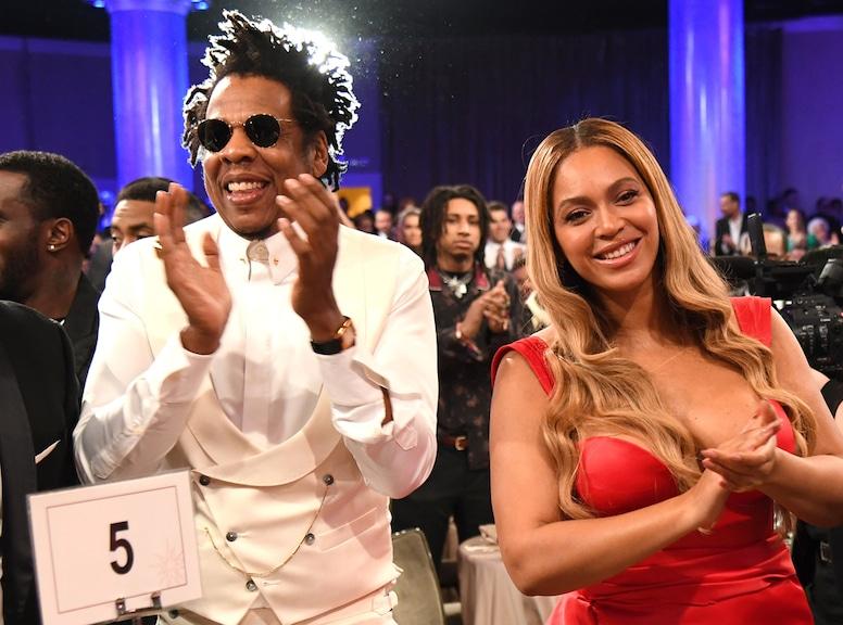 Beyonce, Jay-Z, Clive Davis Pre-2020 Grammys Gala