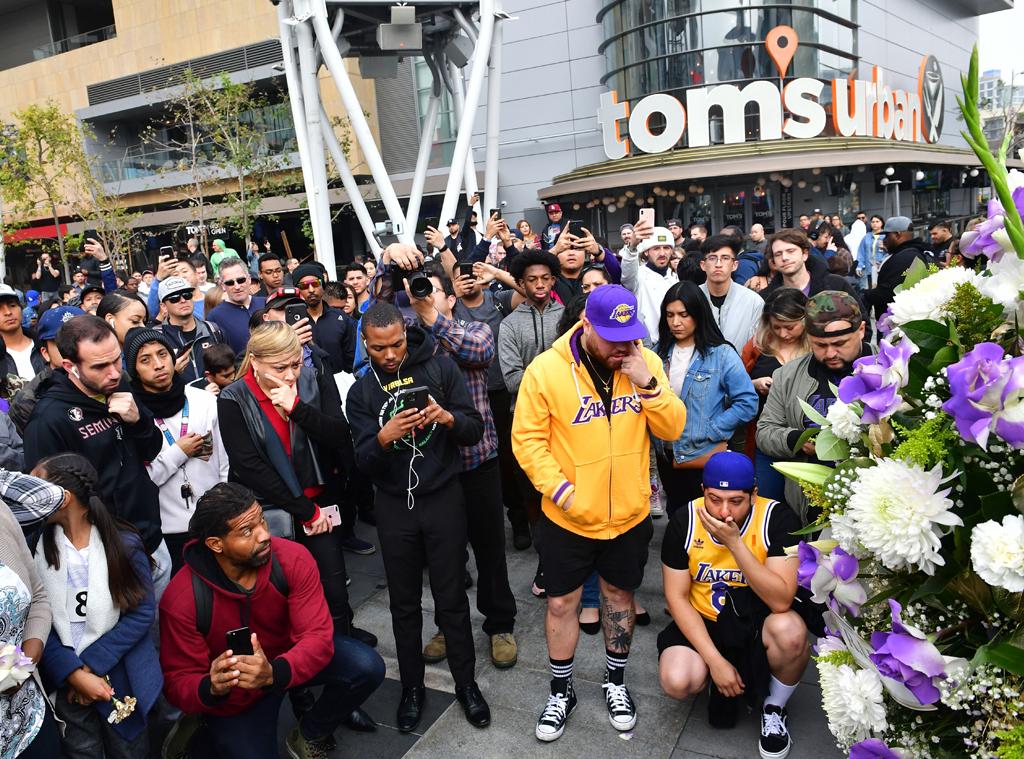 Kobe Bryant, Memorial, LA Live