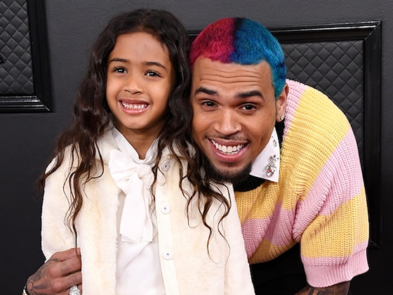 Chris Brown & Other Celebs Who Brought Their Kids As a Plus-One to the Grammys