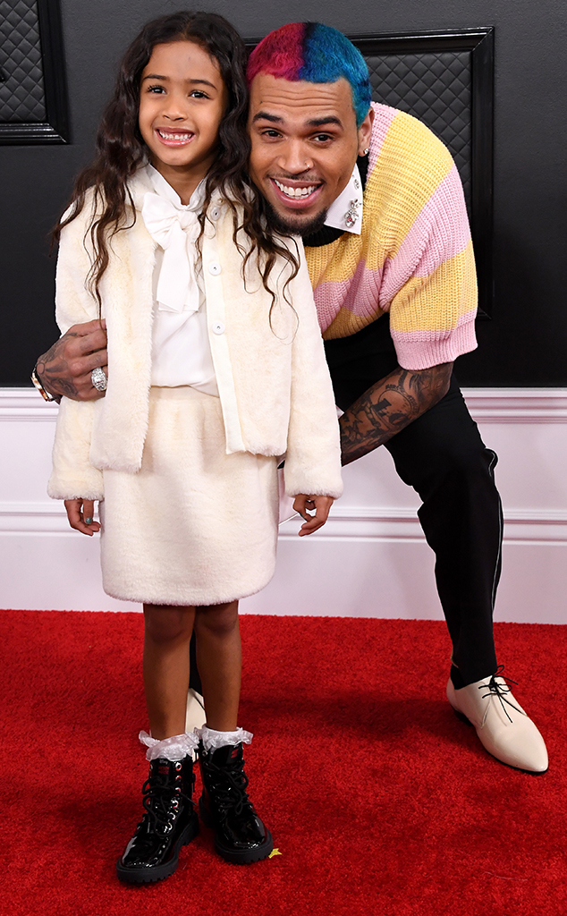 Chris Brown, Royalty Brown, 2020 Grammys, Famille, Kid Plus Ones, Candids