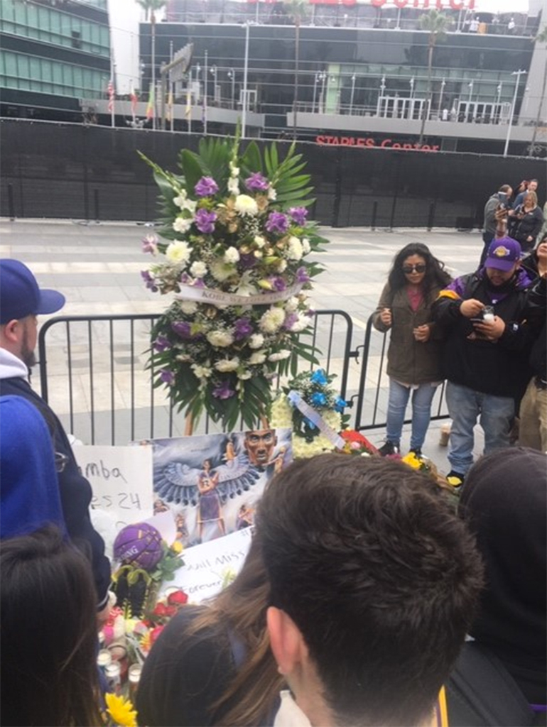 Kobe Bryant, Staples Center, Memorial