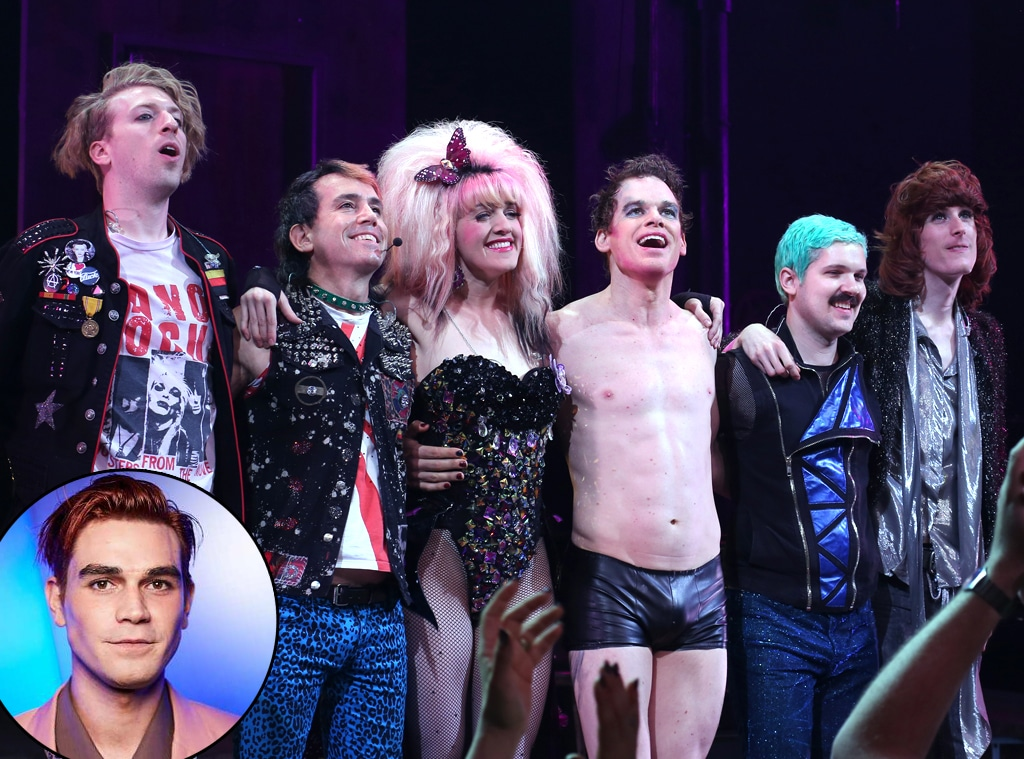 Hedwig the Angry Inch Broadway Musical, KJ Apa, Michael C. Hall, Tim Mislock, Peter Yanowitz, Lena Hall, Matt Duncan, Justin Craig