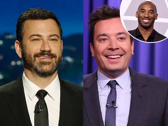 Watch Late Night Hosts Jimmy Fallon, Jimmy Kimmel and More Emotionally Pay Tribute to Kobe Bryant