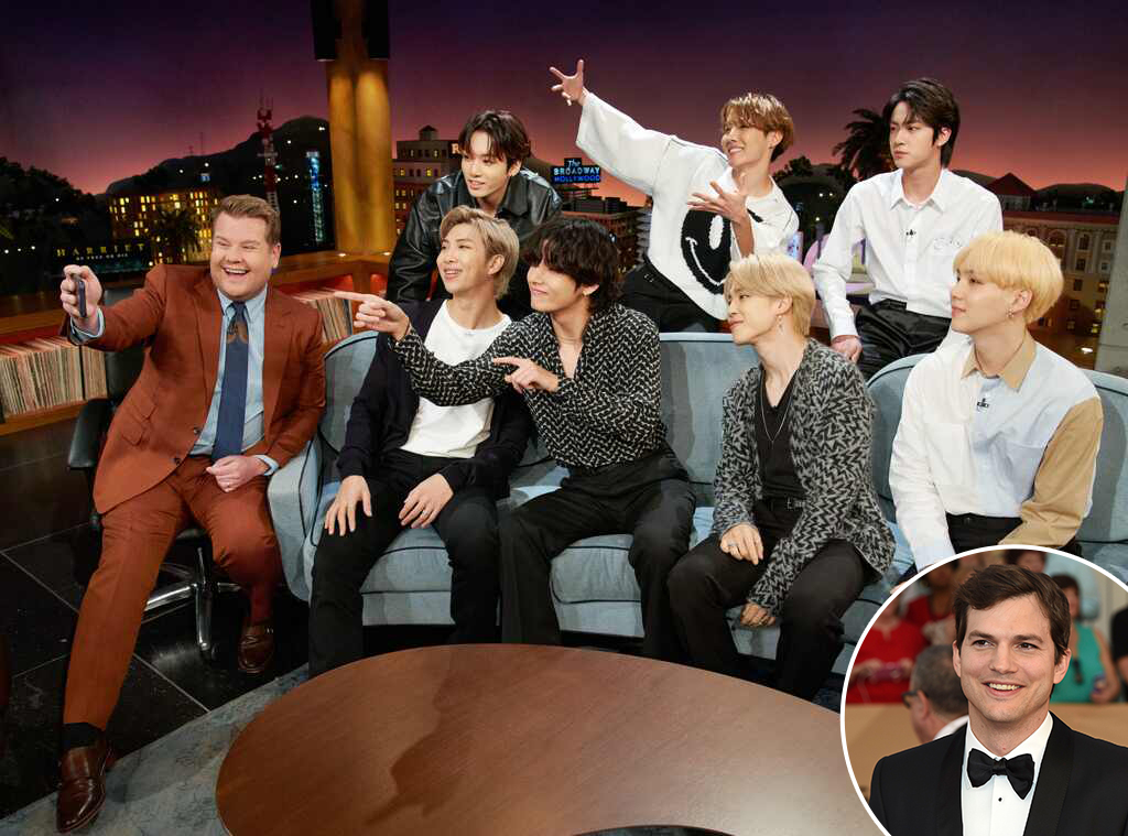 BTS, James Corden, Ashton Kutcher, The Late Late Show