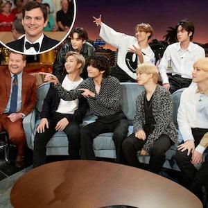 BTS, James Corden, Ashton Kutcher, The Late Late Show