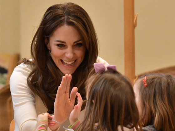 Kate Middleton Serves Up Breakfast and Smiles During Preschool Visit