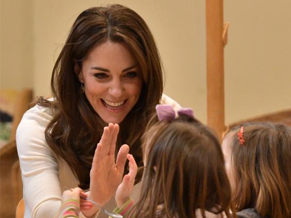 Kate Middleton Serves Up Breakfast and Smiles During Preschool Visit