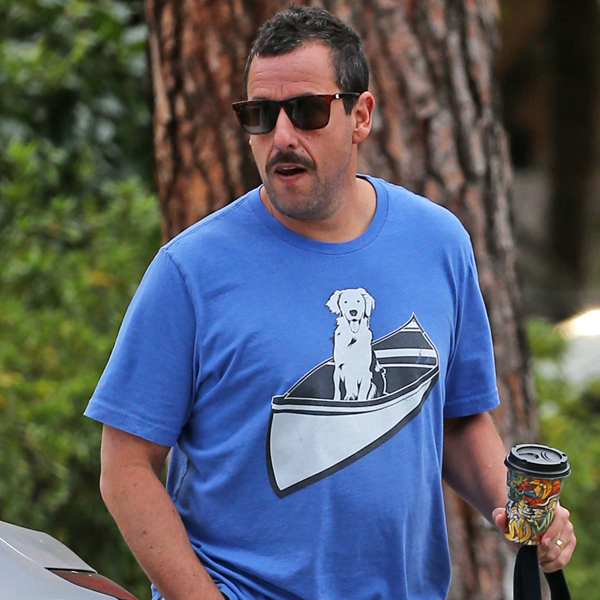 """Watch Adam Sandler Hilariously Call Out His """"Disgusting"""" New Beard"""