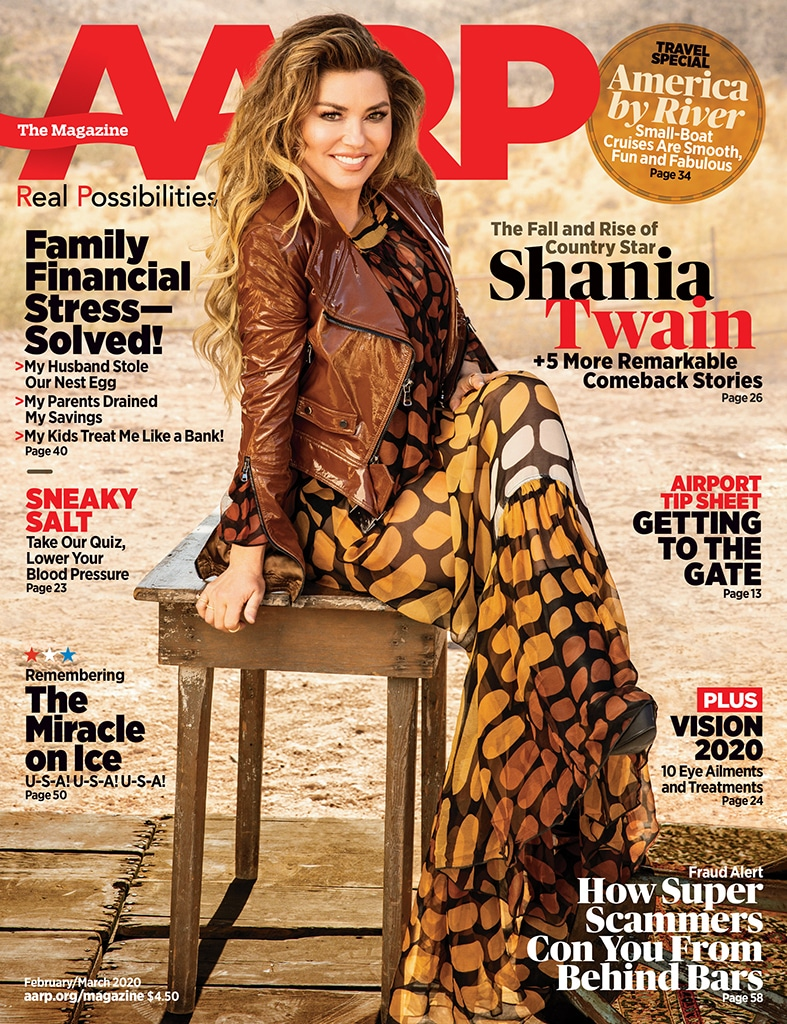 Shania Twain, AARP the Magazine, February / March 2020, Cover