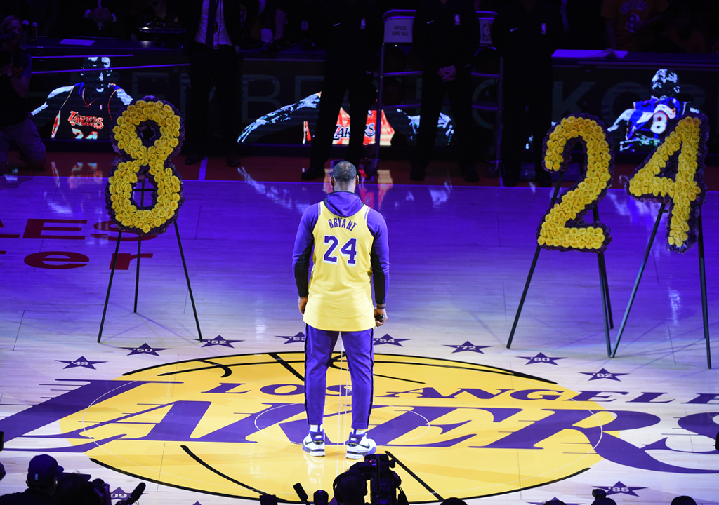 Lebron James, Kobe Bryant Tribute, Lakers, Trailerblazers