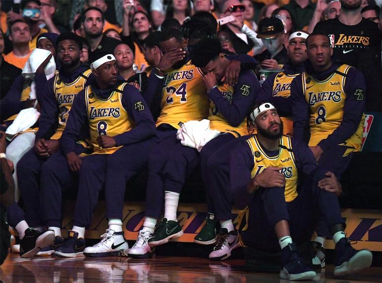 Lebron James, Kobe Bryant Tribute, Lakers, Trailerblazers