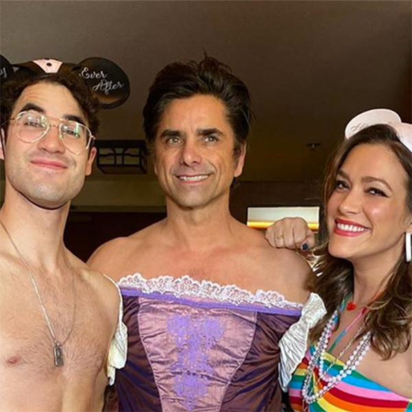 John Stamos Dresses Up As Rapunzel and Takes Darren Criss to Disneyland