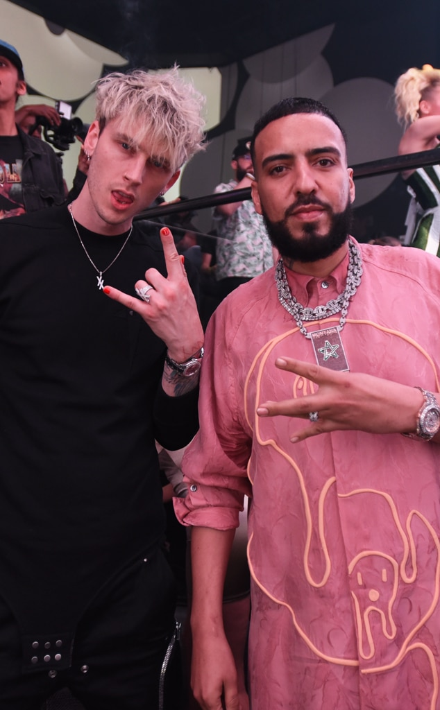 Super Bowl 2020 star sightings - Machine Gun Kelly, French Montana