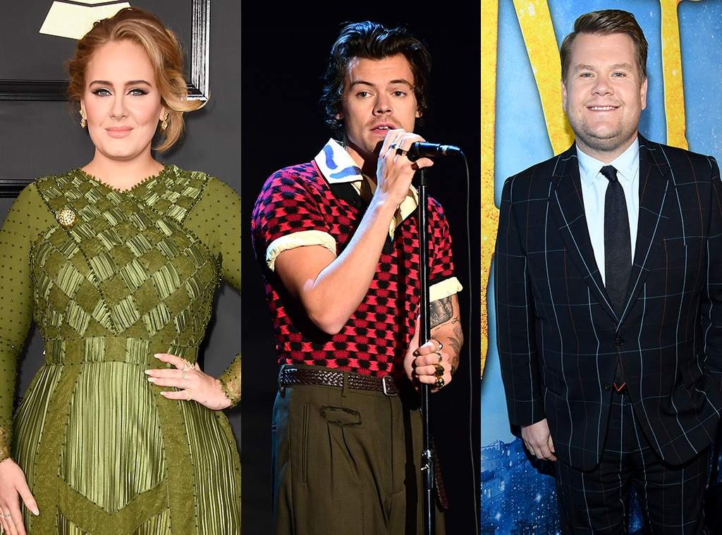 Adele, Harry Styles, James Corden