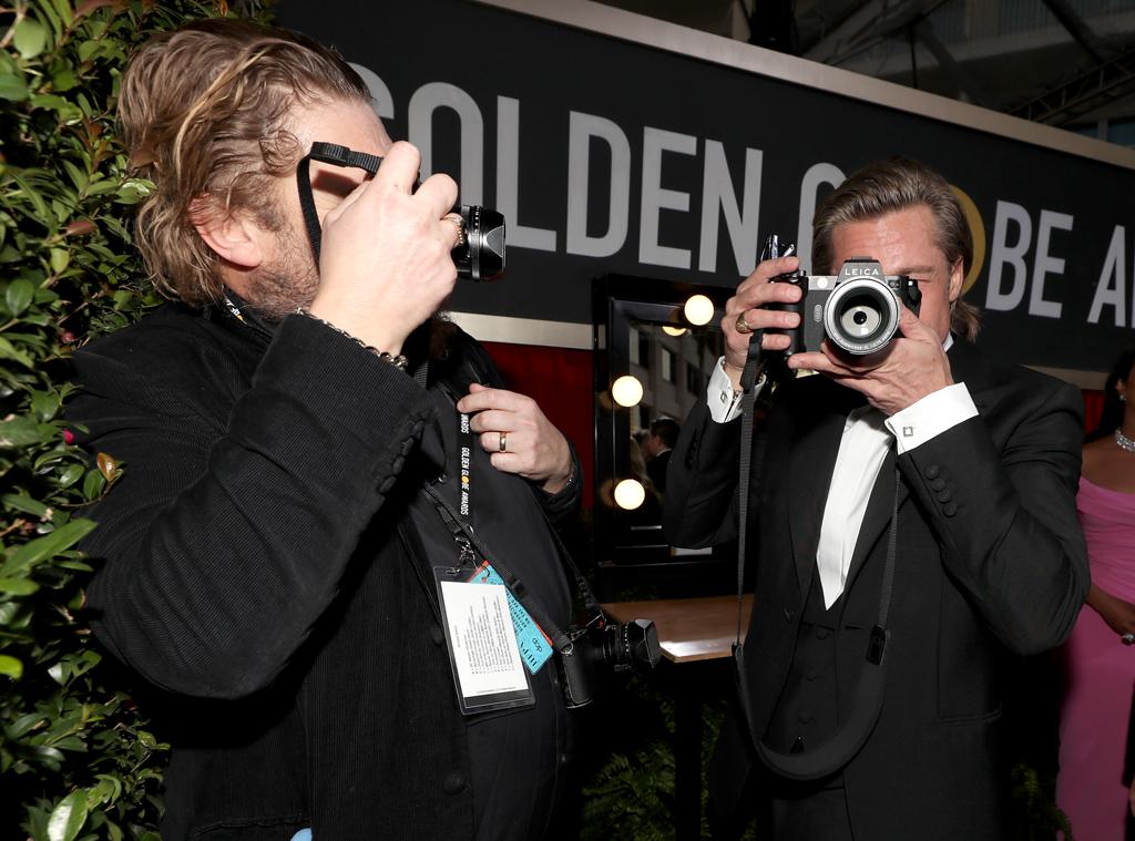 Brad Pitt, 2020 Golden Globe Awards, Candids