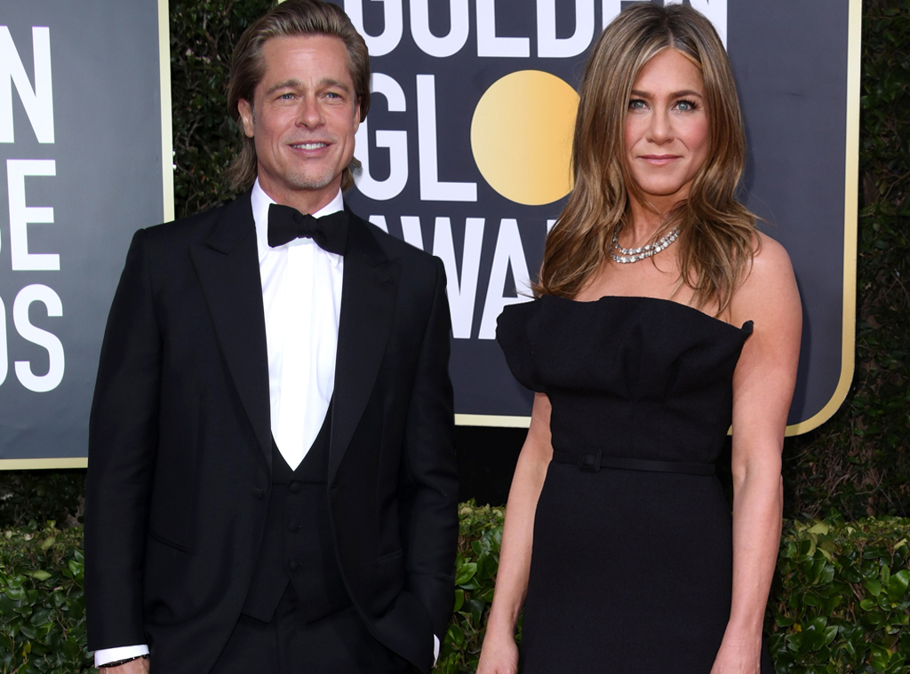 Brad Pitt, Jennifer Aniston, 2020 Golden Globe Awards