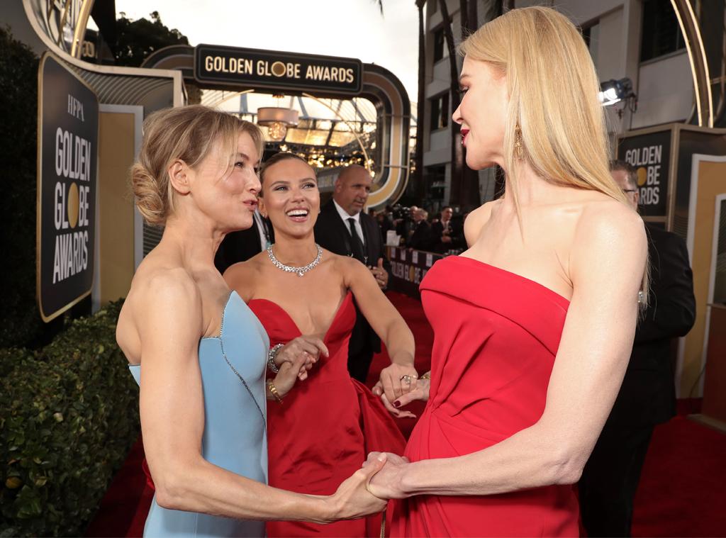 Renee Zellweger, Scarlett Johansson, Nicole Kidman, 2020 Golden Globe Awards, Candids