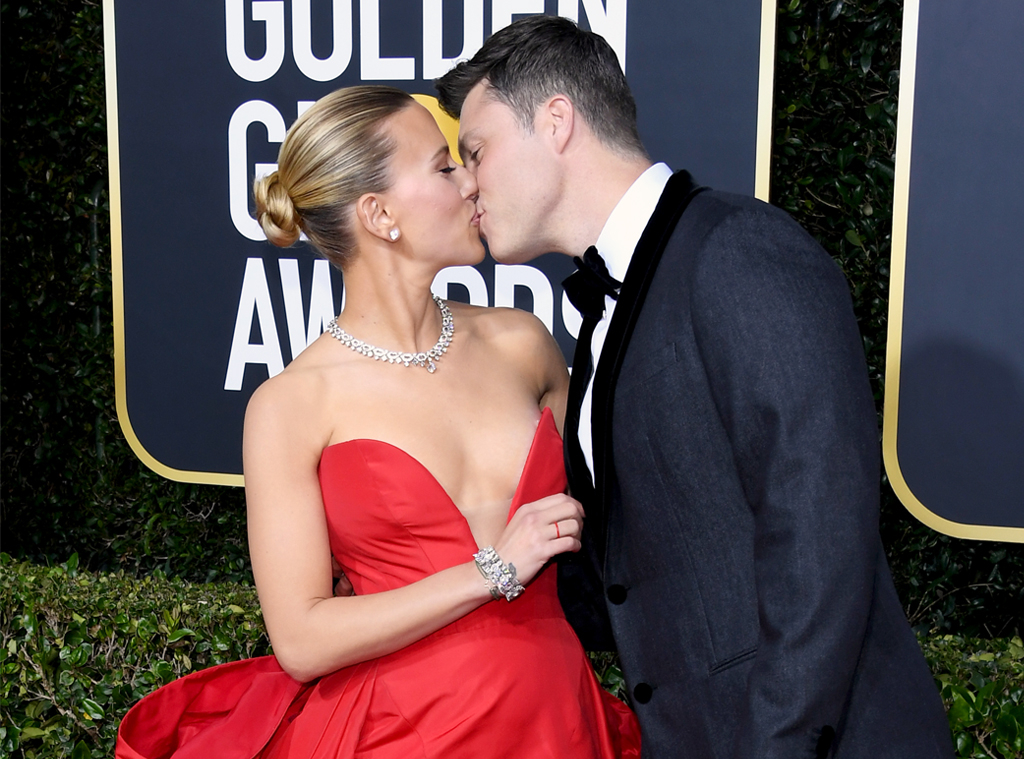 Scarlett Johansson, Colin Jost, 2020 Golden Globe Awards, Candids