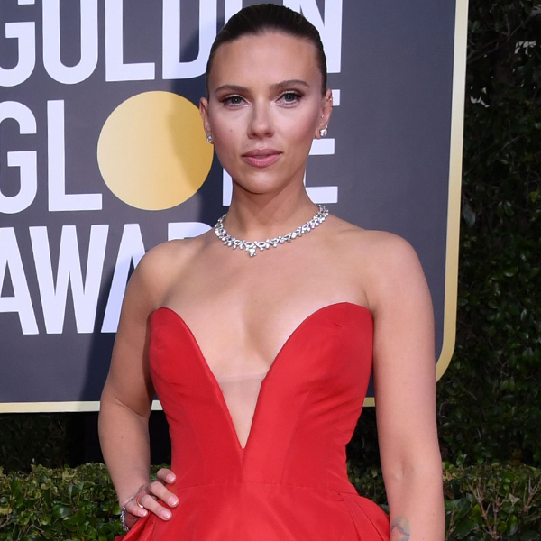 Scarlett Johansson Stuns in a Scarlet Red Gown at 2020 Golden Globes