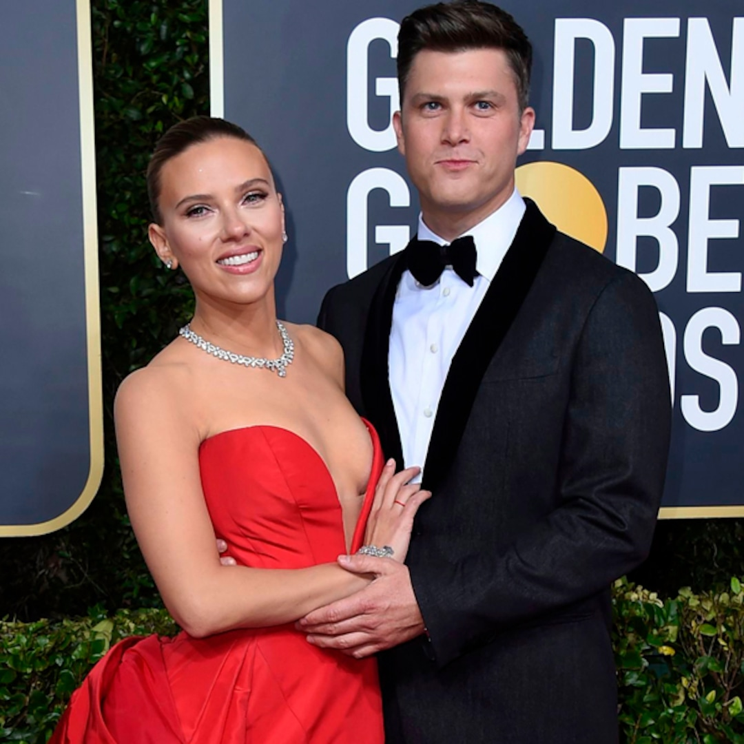 """Colin Jost Says His Mom Didn't """"Understand"""" Why He and Scarlett Johansson Named Their Son Cosmo"""