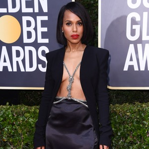 Kerry Washington, 2020 Golden Globe Awards, Red Carpet Fashion