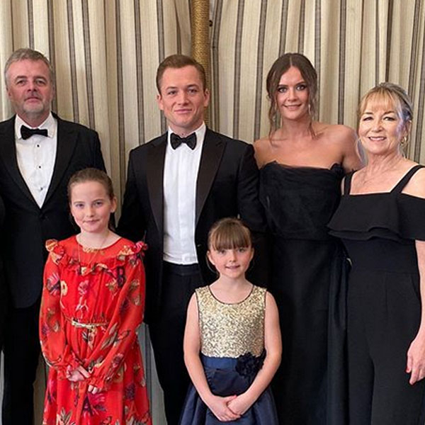 Taron Egerton & All the Other Celebs Who Brought Family Members to the 2020 Golden Globes