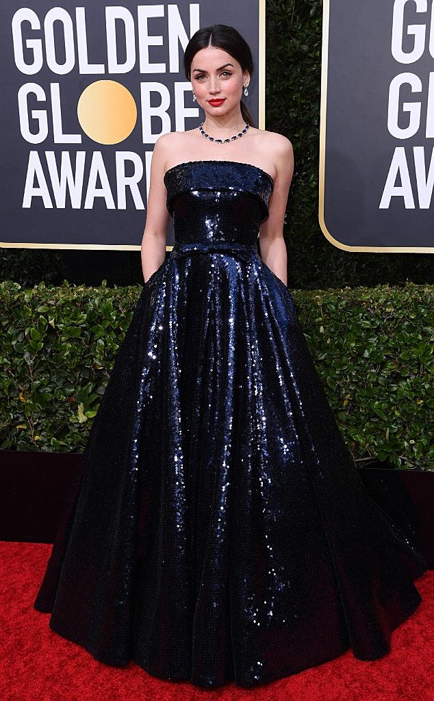 Ana de Armas, 2020 Golden Globe Awards, Red Carpet Fashion