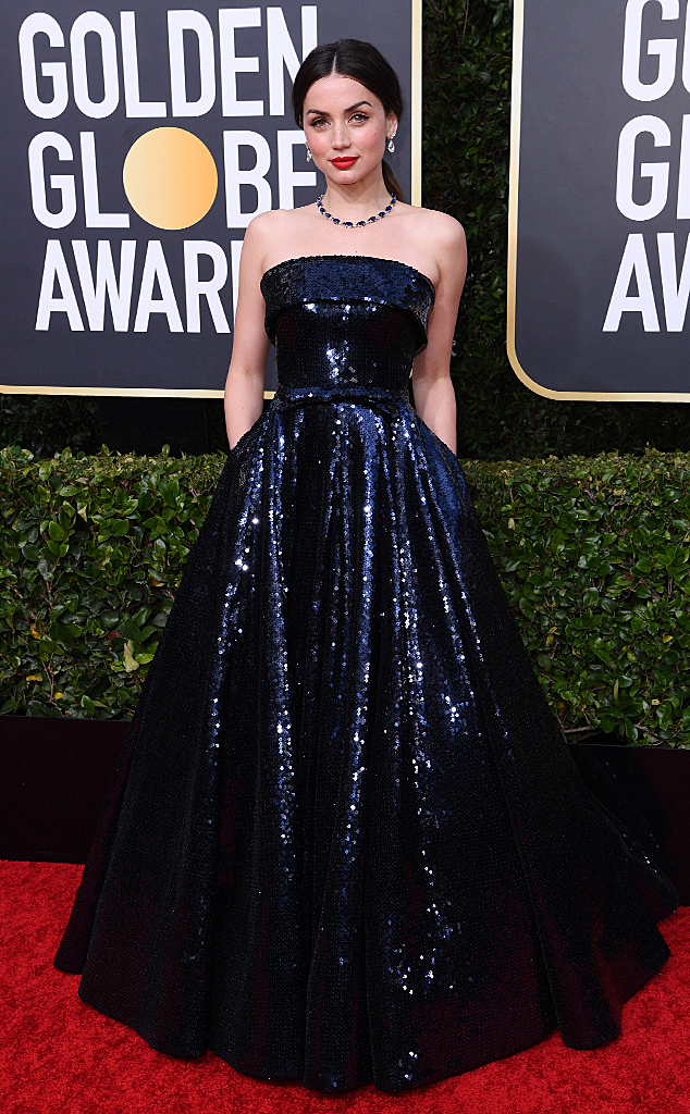 Ana de Armas, 2020 Golden Globe Awards, Red Carpet Fashion