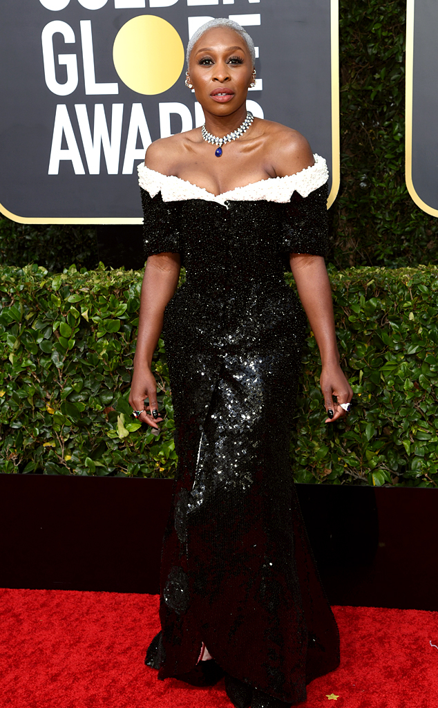 Cynthia Erivo, 2020 Golden Globe Awards, Red Carpet Fashion