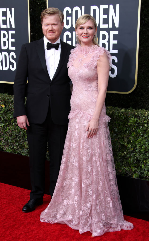 Jesse Plemons, Kirsten Dunst, 2020 Golden Globe Awards, Couples