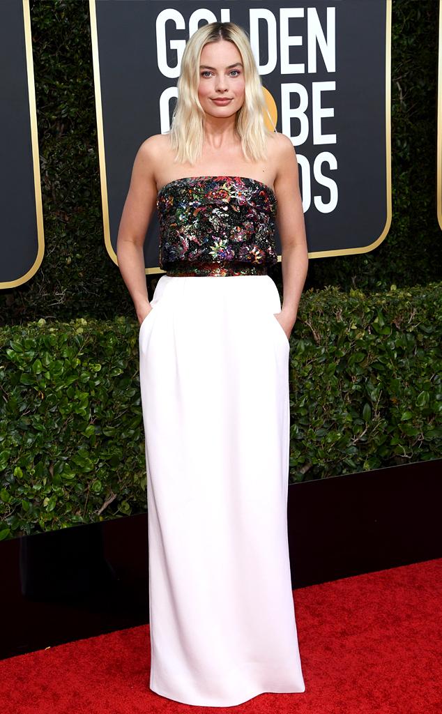 Margot Robbie, 2020 Golden Globe Awards, Red Carpet Fashion