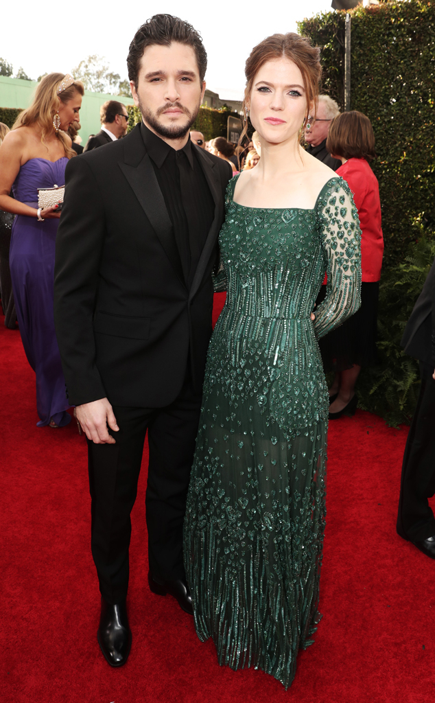 Kit Harington, Rose Leslie, 2020 Golden Globe Awards
