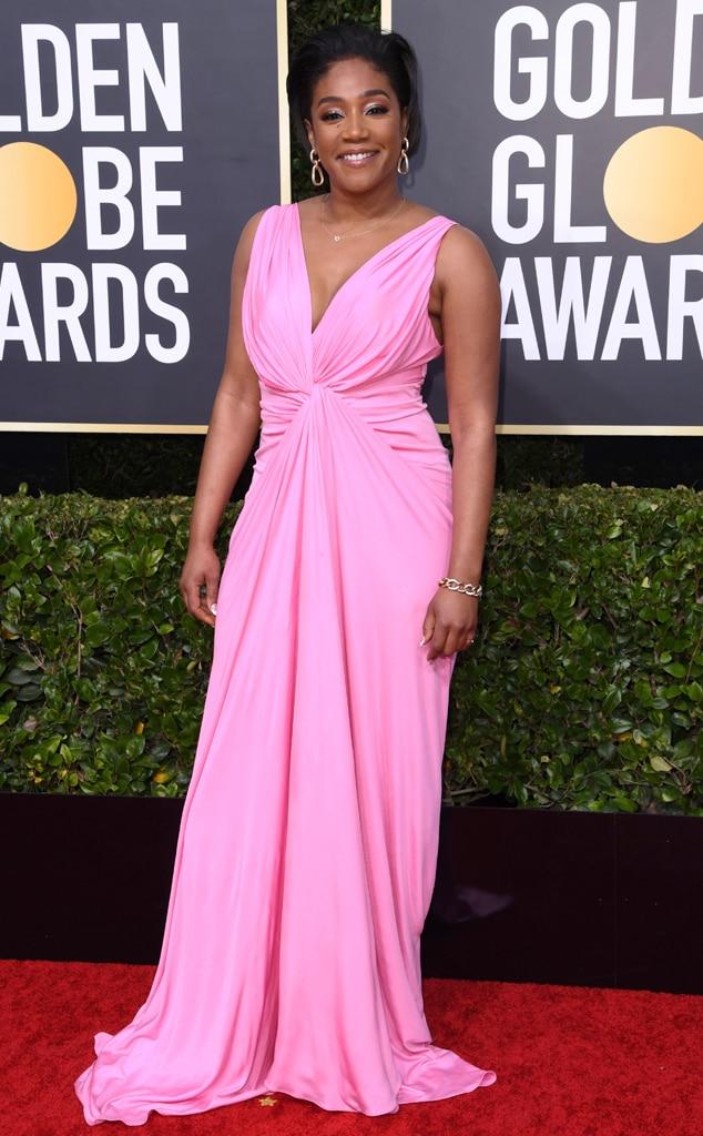 Tiffany Haddish, 2020 Golden Globe Awards, Red Carpet Fashion, pink