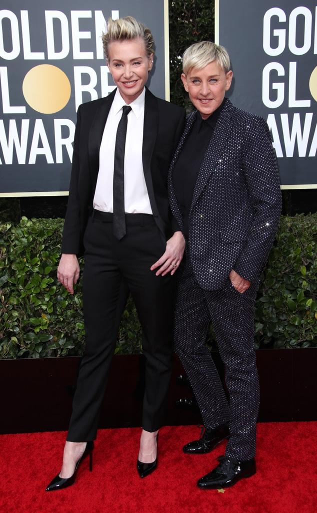 Portia de Rossi, Ellen DeGeneres, 2020 Golden Globe Awards, Couples