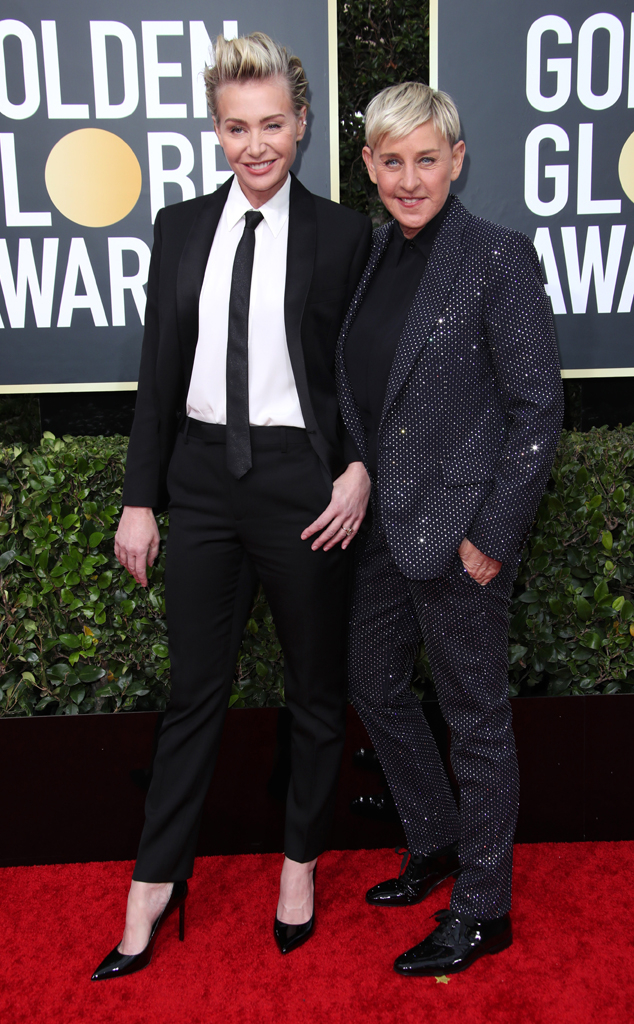 Portia de Rossi, Ellen DeGeneres, 2020 Golden Globe Awards, Couples