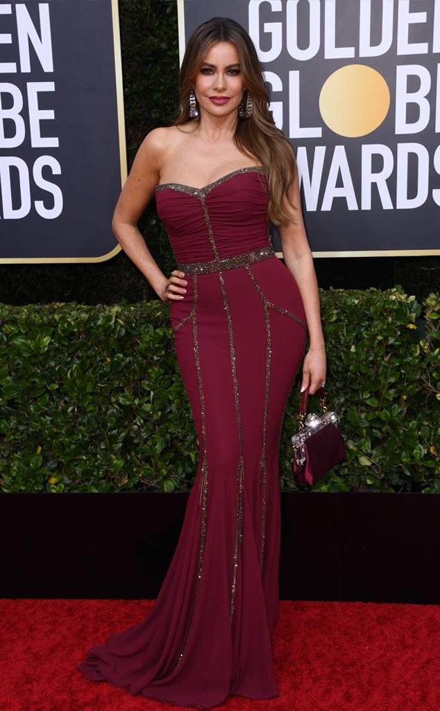Sofia Vergara, 2020 Golden Globe Awards, Red Carpet Fashion