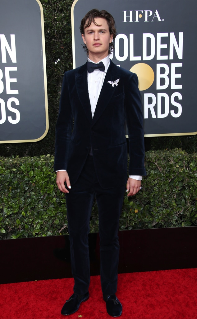 Ansel Elgort, 2020 Golden Globe Awards, Red Carpet Fashion