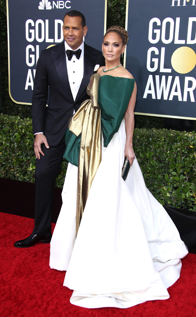 Alex Rodriguez, Jennifer Lopez, 2020 Golden Globe Awards, Couples