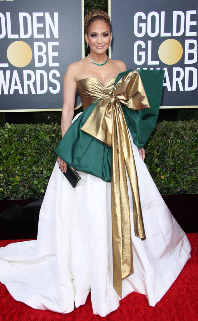 Image result for Golden Globes 2020 Jennifer Lopez dress