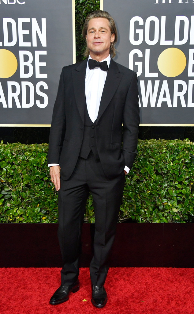 Brad Pitt, 2020 Golden Globe Awards, Red Carpet Fashion