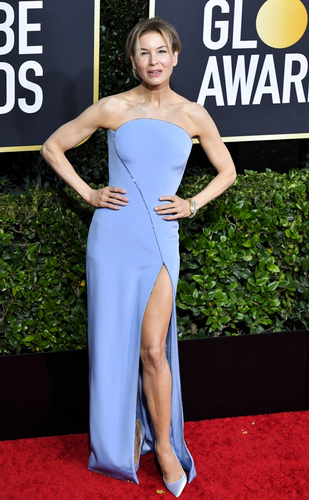 Renee Zellweger, 2020 Golden Globe Awards, Red Carpet Fashion