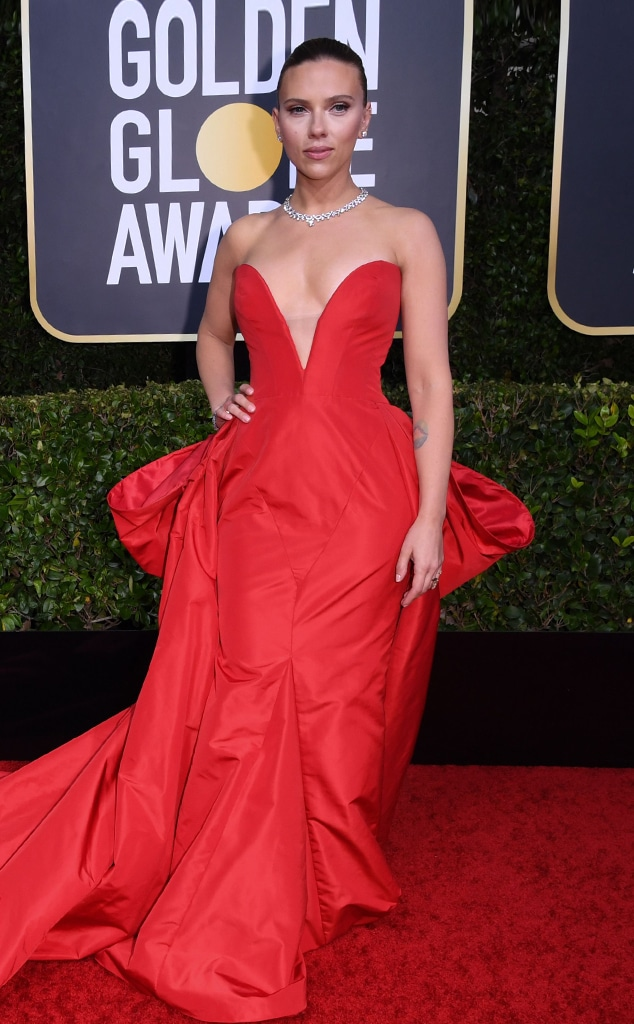 Scarlett Johansson, 2020 Golden Globe Awards, Red Carpet Fashion