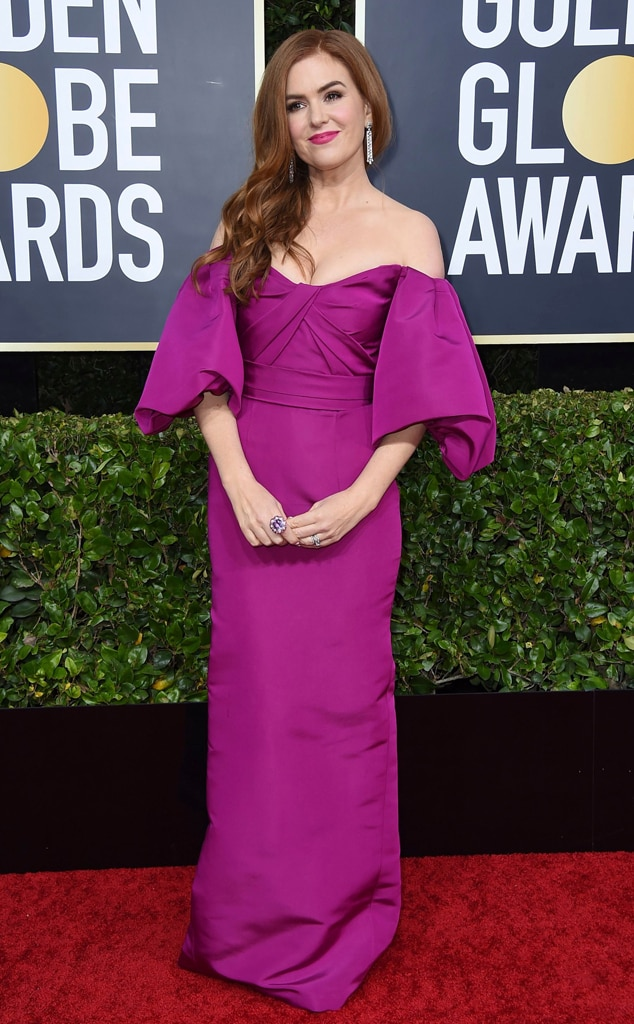 Isla Fisher from Golden Globes 2020 Red Carpet Fashion | E! News