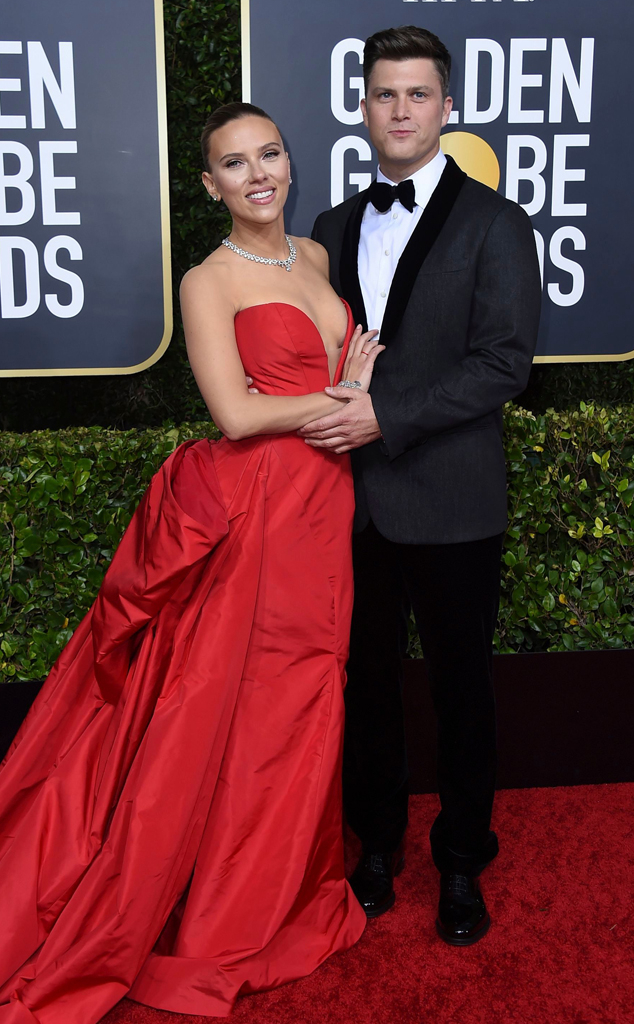 Scarlett Johansson, Colin Jost, 2020 Golden Globe Awards, Couples
