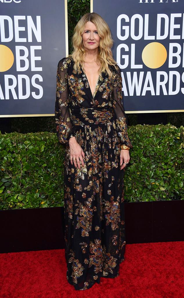 Laura Dern, 2020 Golden Globe Awards, Red Carpet Fashion