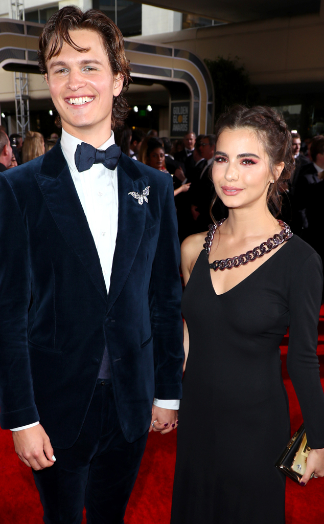 Ansel Elgort, Violetta Komyshan, 2020 Golden Globe Awards, Best Accessories