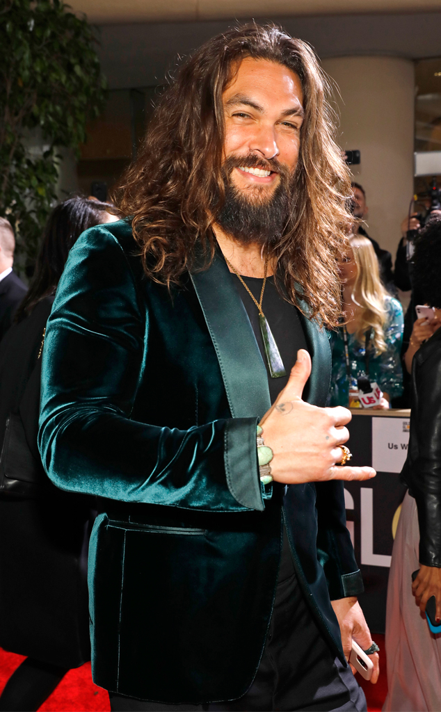 Jason Momoa, 2020 Golden Globe Awards, Candids